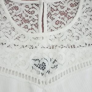 BCX Dresses - Cream/white off the shoulder dress
